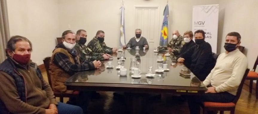 Seguridad: La SRPGV estuvo presente en reunión con autoridades de la PolicíaRural
