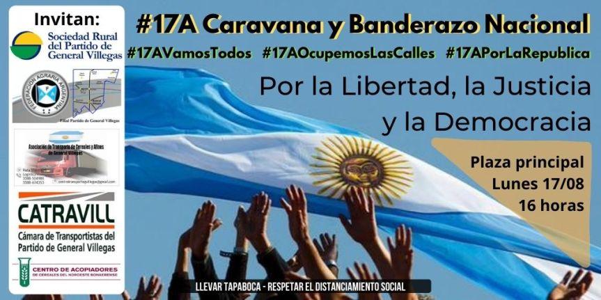 Todos a la Caravana y Banderazo Nacional del#17A