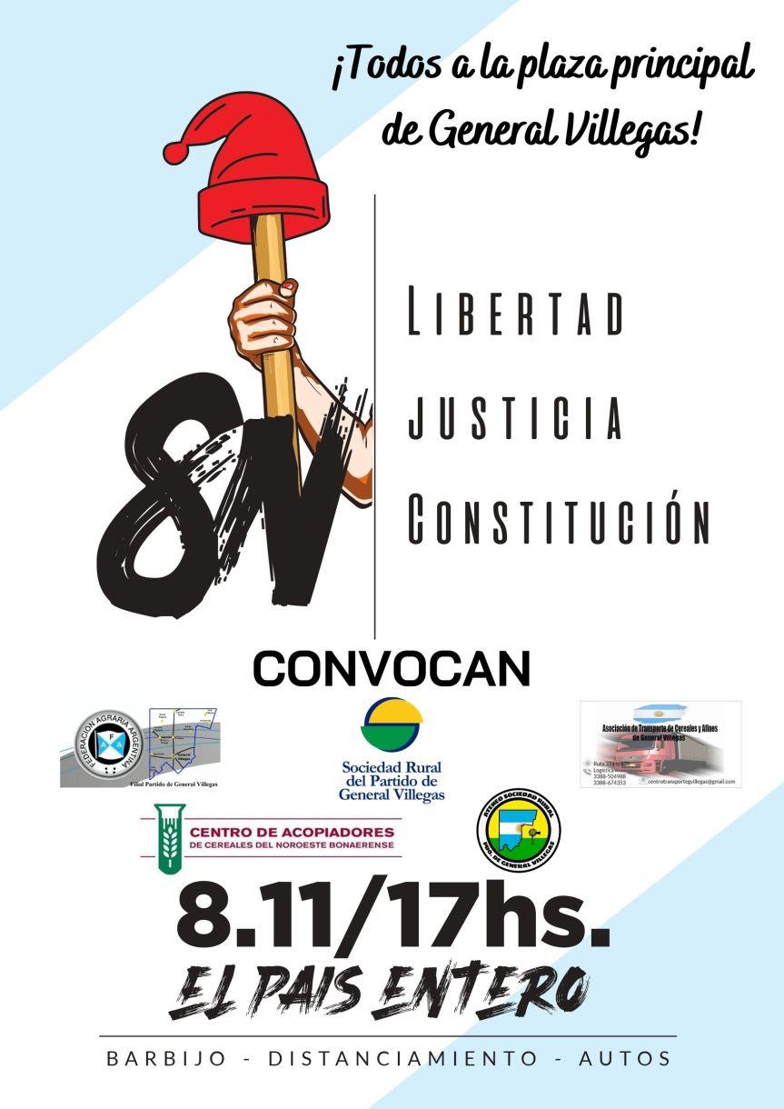 #8N – Banderazo y Caravana Federal en GeneralVillegas